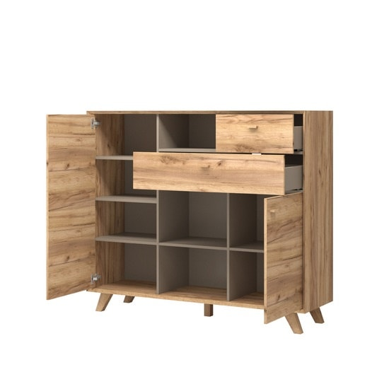 Aiden Wooden Chest Of Drawers In Navarra Oak And Stone Grey_3