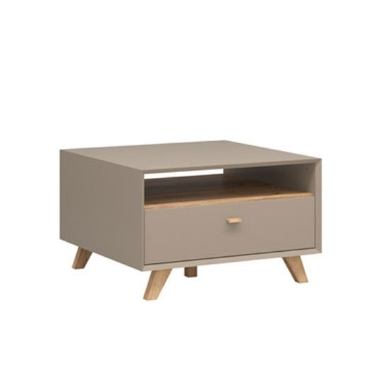 Aiden Wooden Coffee Table In Stone Grey And Navarra Oak