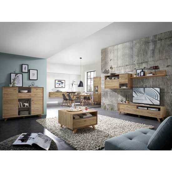 Aiden Wooden Chest Of Drawers In Navarra Oak And Stone Grey_4