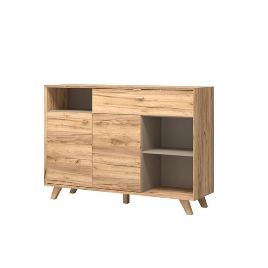 Aiden Modern Sideboard In Navarra Oak And Stone Grey