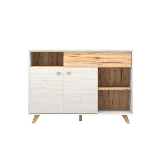 Aiden Modern Sideboard In Pine White And Navarra Oak_2