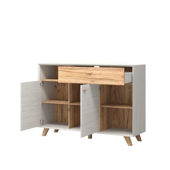 Aiden Modern Sideboard In Pine White And Navarra Oak_3