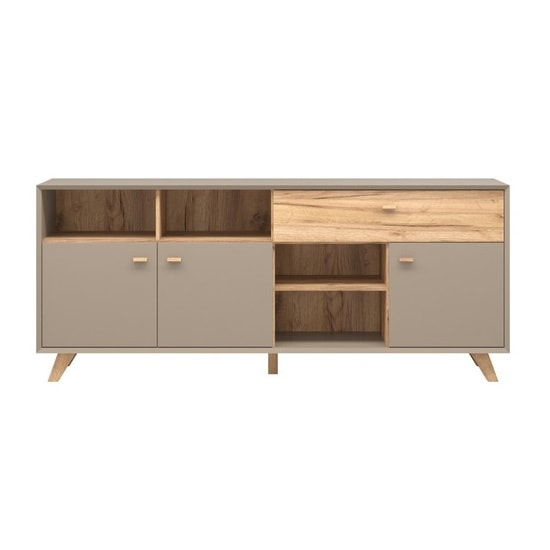 Aiden Wooden Sideboard In Stone Grey And Navarra Oak_2