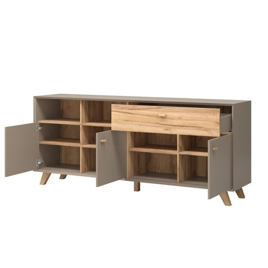 Aiden Wooden Sideboard In Stone Grey And Navarra Oak_3