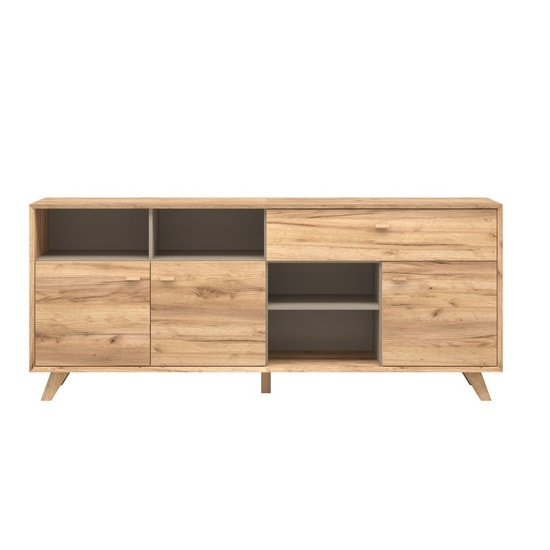 Aiden Wooden Sideboard In Navarra Oak And Stone Grey_3