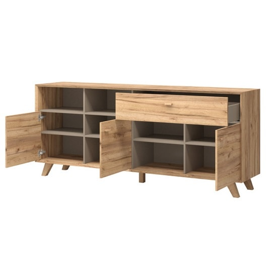 Aiden Wooden Sideboard In Navarra Oak And Stone Grey_2