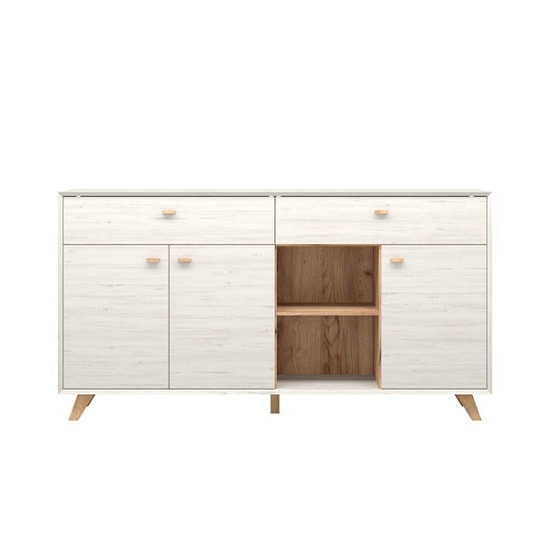 Aiden Contemporary Sideboard In Pine White And Navarra Oak_2