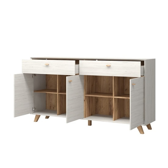 Aiden Contemporary Sideboard In Pine White And Navarra Oak_3
