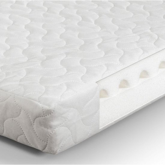 Airwave PU Foam Cotbed Double Mattress In White
