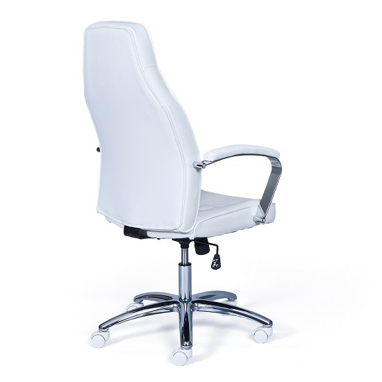 Alana Home Office Chair In White Faux Leather And Chrome_3