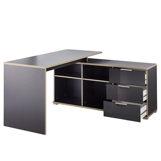 alantra wooden corner computer desk in anthracite with. Black Bedroom Furniture Sets. Home Design Ideas