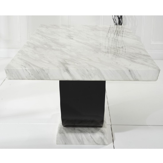 Aloya Marble Dining Table Rectangular In Cream And Black_5