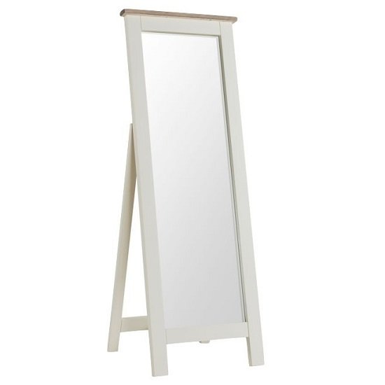 Alaya Cheval Mirror In Stone White Finish