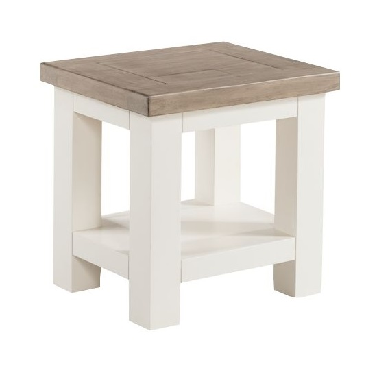 Alaya Wooden Lamp Tables In Stone White Finish