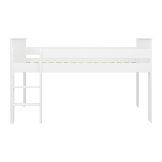 Alba Wooden Children Mid Sleeper Bed In White_4