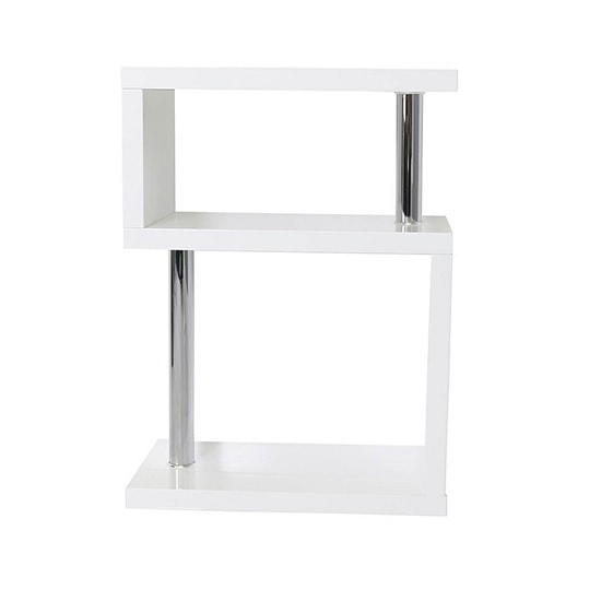 Albania 3 Tier Shelving Unit White High Gloss_2