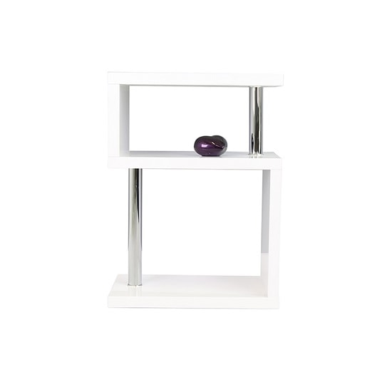 Albania 3 Tier Shelving Unit White High Gloss_3