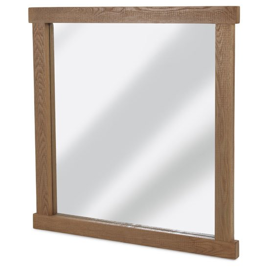 Albas Wall Bedroom Mirror In Planked Solid Oak Frame