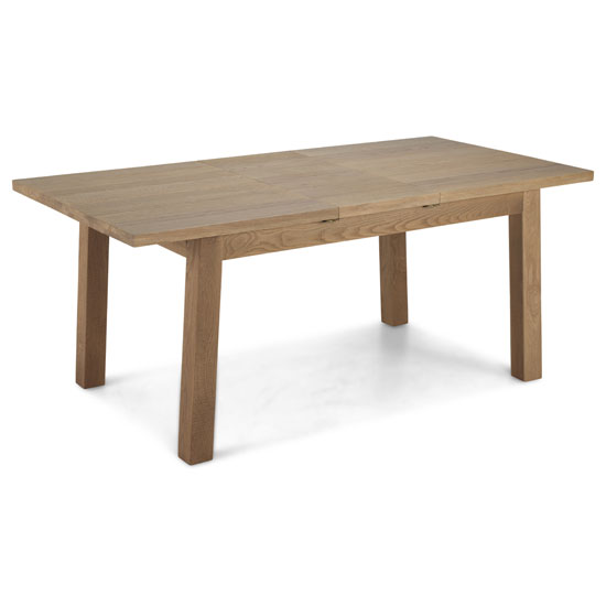 Albas Wooden Extending Dining Table In Planked Solid Oak