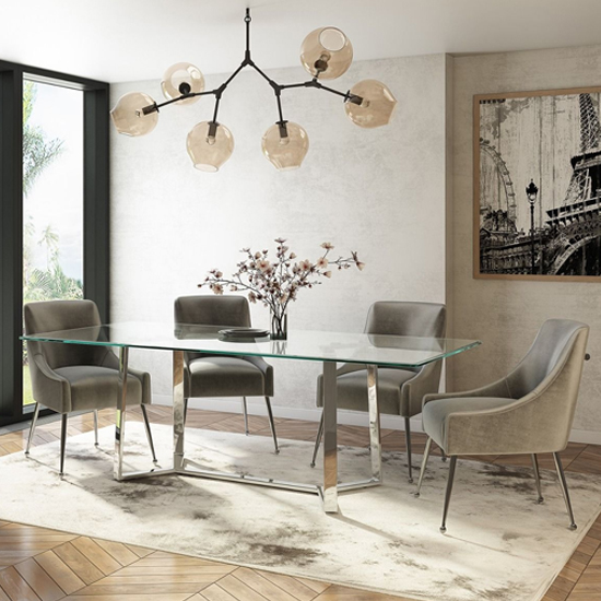 Alberto Glass Dining Table With Stainless Steel Legs_2