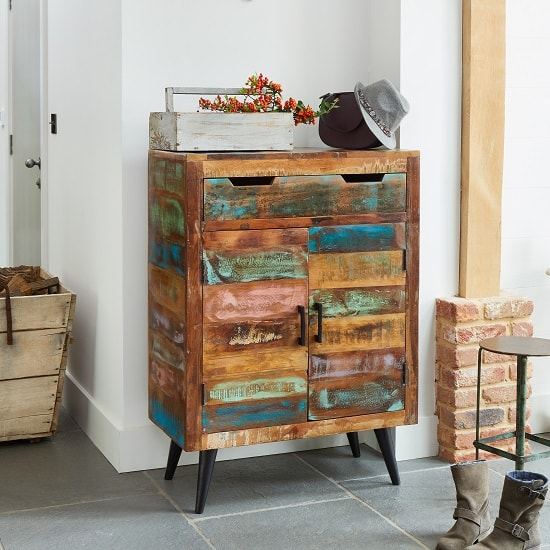 Albion Wooden Shoe Storage Cabinet In Reclaimed Wood_3