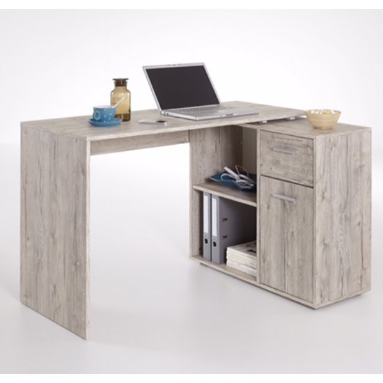 Albrecht Wooden Computer Desk In Sand Oak