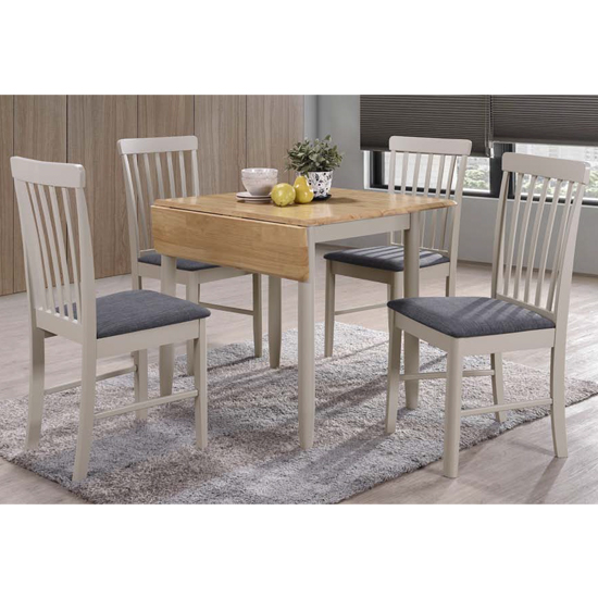 Alcor Square Drop Leaf Dining Set With 4 Chairs