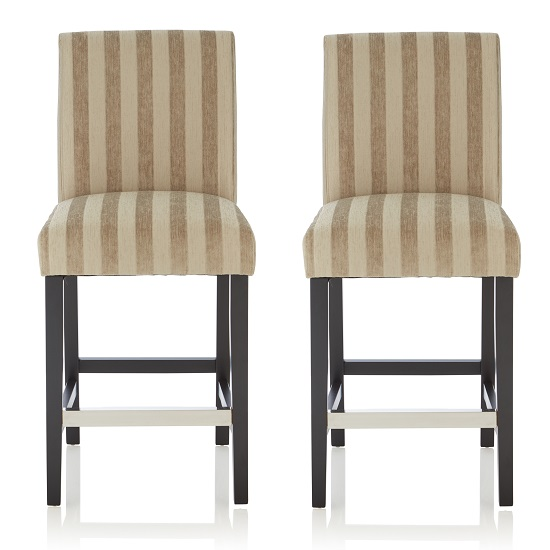 Alden Bar Stools In Sage Fabric And Black Legs In A Pair