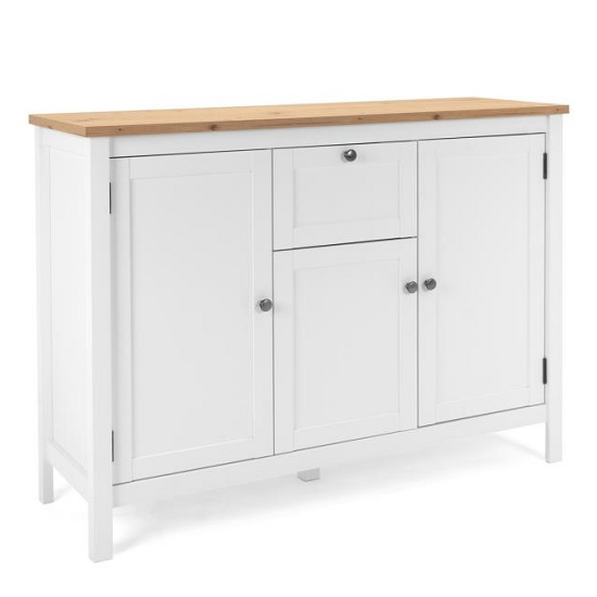 View Alder wooden sideboard small in artisan oak and white