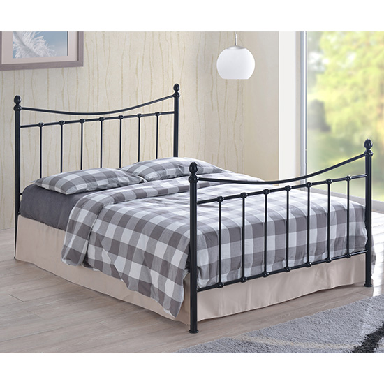 Alderley Metal Small Double Bed In Black