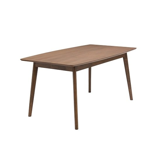 Alecia Wooden Dining Table In Ash Veneer With Rich Hazelnut