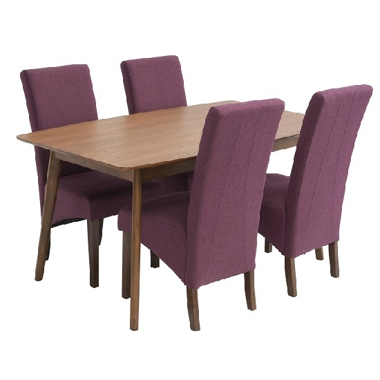 Alecia 4 Seater Wooden Dining Set With Ibis Chairs
