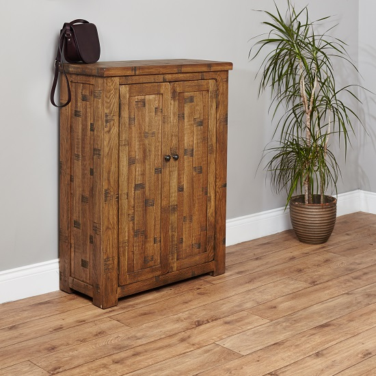 Alena Wooden Shoe Storage Cabinet With 2 Doors