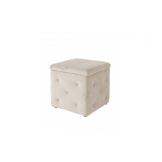 Read more about Alencia storage box in beige velvet style fabric