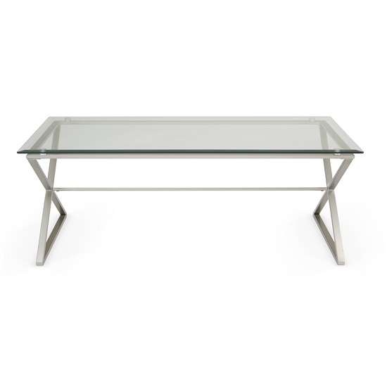 Alessa Glass Coffee Table In Clear With Satin Plated Base_5