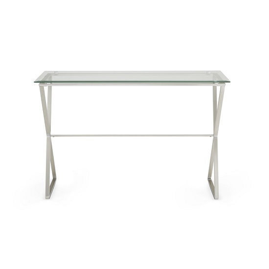 Alessa Glass Console Table In Clear With Satin Plated Base_3