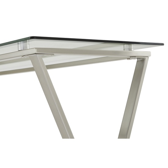 Alessa Glass Console Table In Clear With Satin Plated Base_5