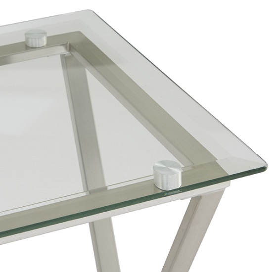 Alessa Glass Console Table In Clear With Satin Plated Base_6