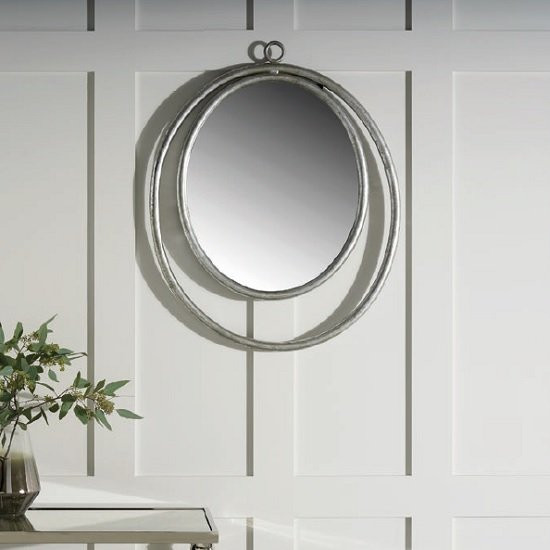 Alexia Wall Mirror Oval In Silver Finish