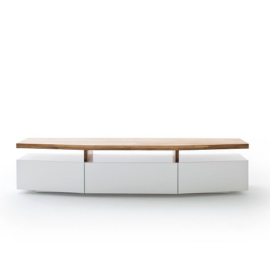 Alexia Wooden TV Stand In Knotty Oak And Matt White_3