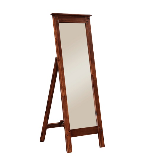 Read more about Alexis wooden floor standing mirror in dark acacia wood