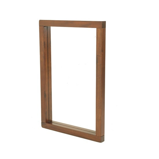 Read more about Alexis wooden wall mirror rectangular in dark acacia wood