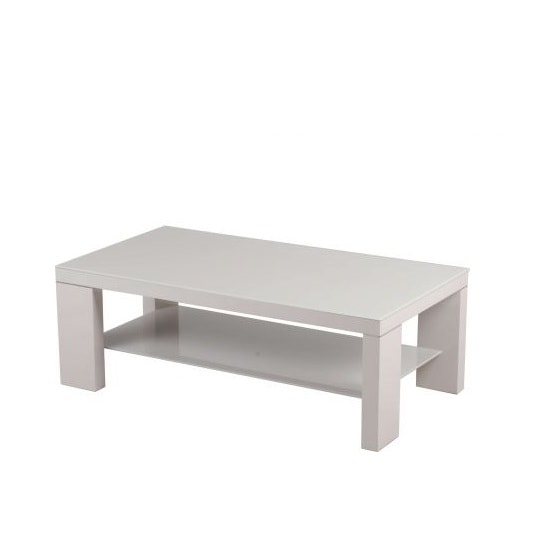 Alford Glass Coffee Table With Light Grey High Gloss