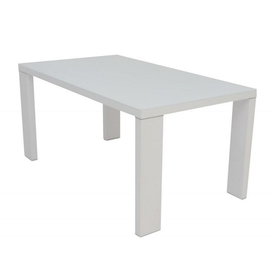 Alford Glass Dining Table Rectangular With Light Grey High Gloss