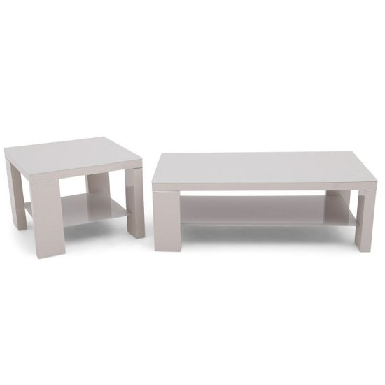 Alford Glass Side Table Square With Light Grey High Gloss_2