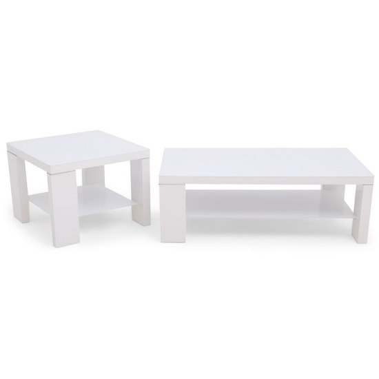 Alford Glass Coffee Table Rectangular With White High Gloss_2