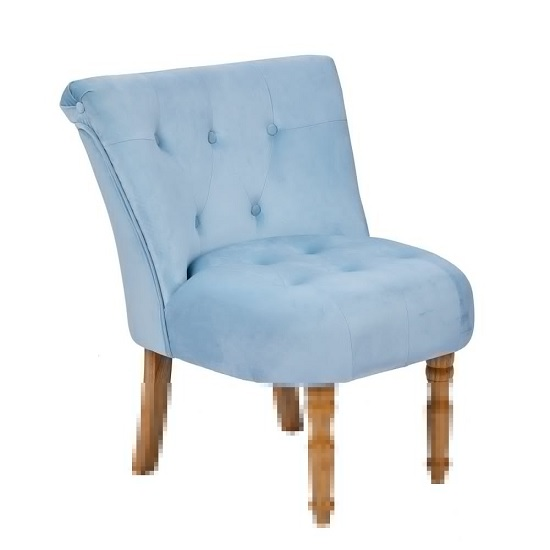Alger Fabric Occasional Chair In Duck Blue With Wooden Legs_1