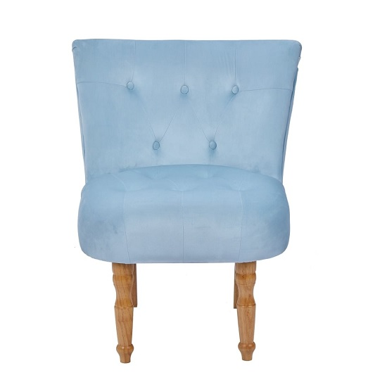 Alger Fabric Occasional Chair In Duck Blue With Wooden Legs_3