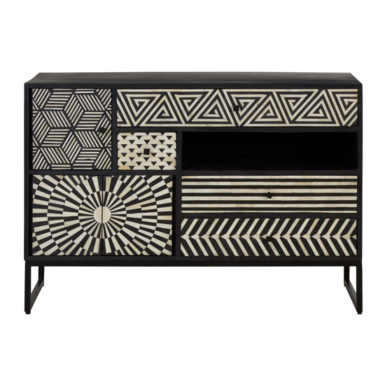 Algieba Wooden Sideboard In Monochromatic Effect