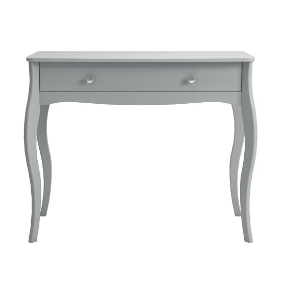 Alice Wooden Dressing Table In Grey With 1 Drawer_2
